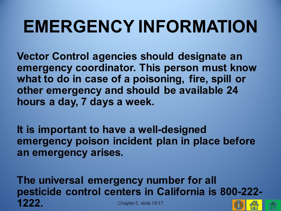 EMERGENCY INFORMATION