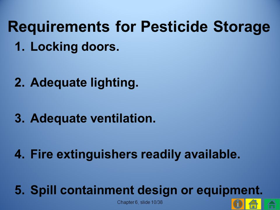 Requirements for Pesticide Storage