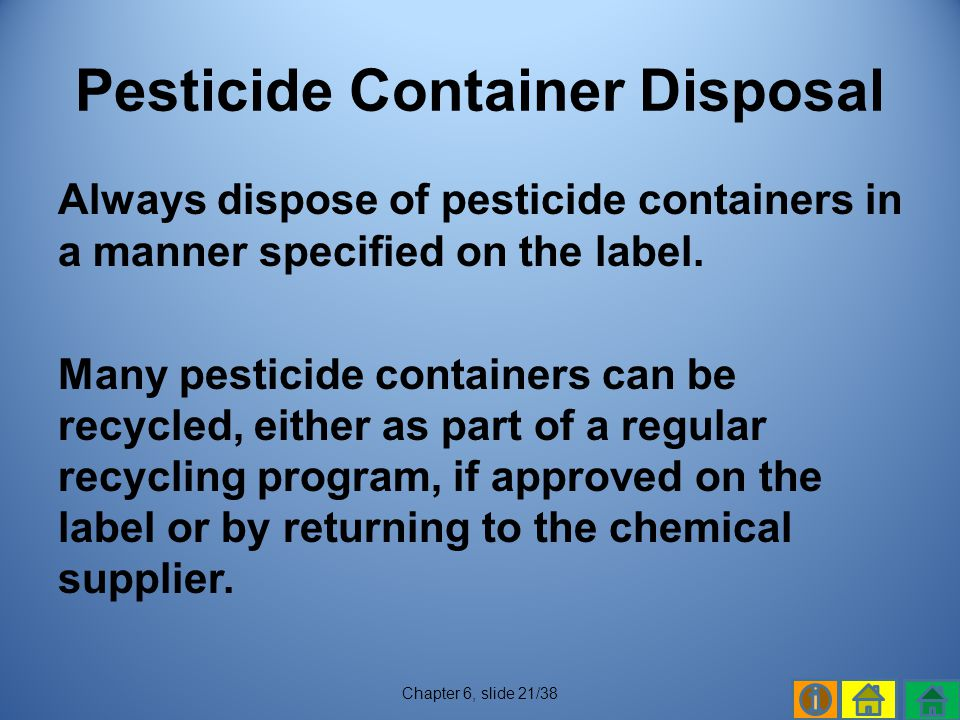 Pesticide Container Disposal