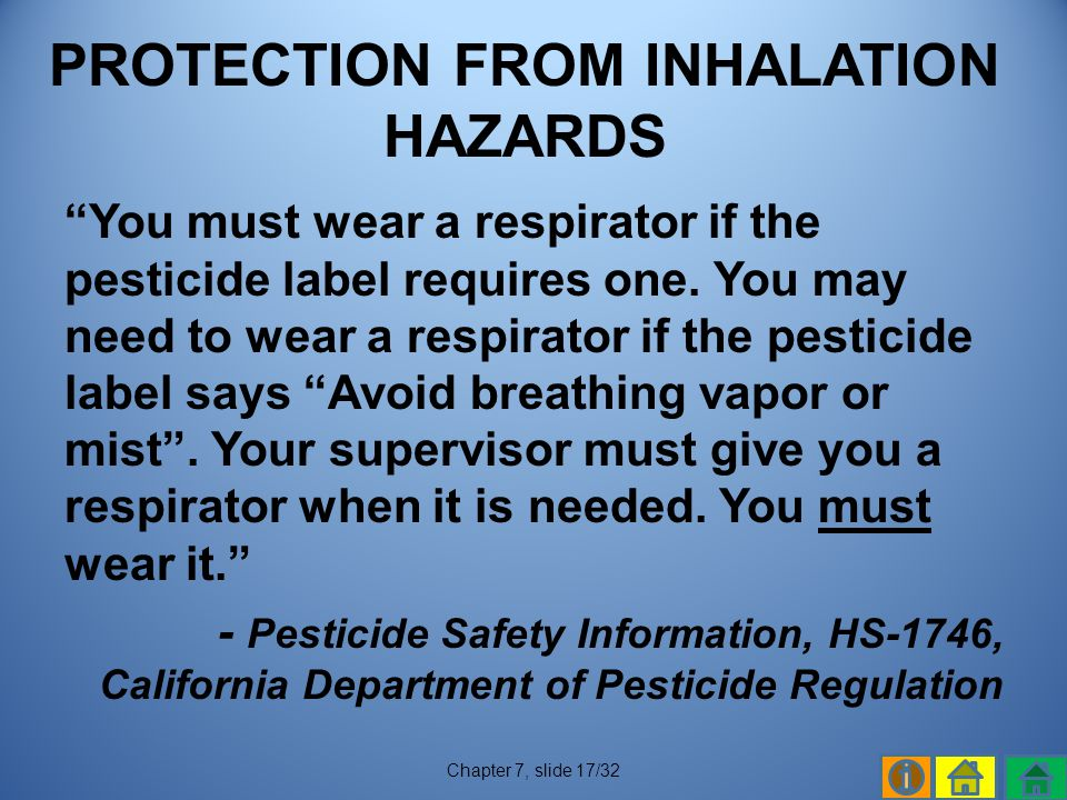 PROTECTION FROM INHALATION HAZARDS
