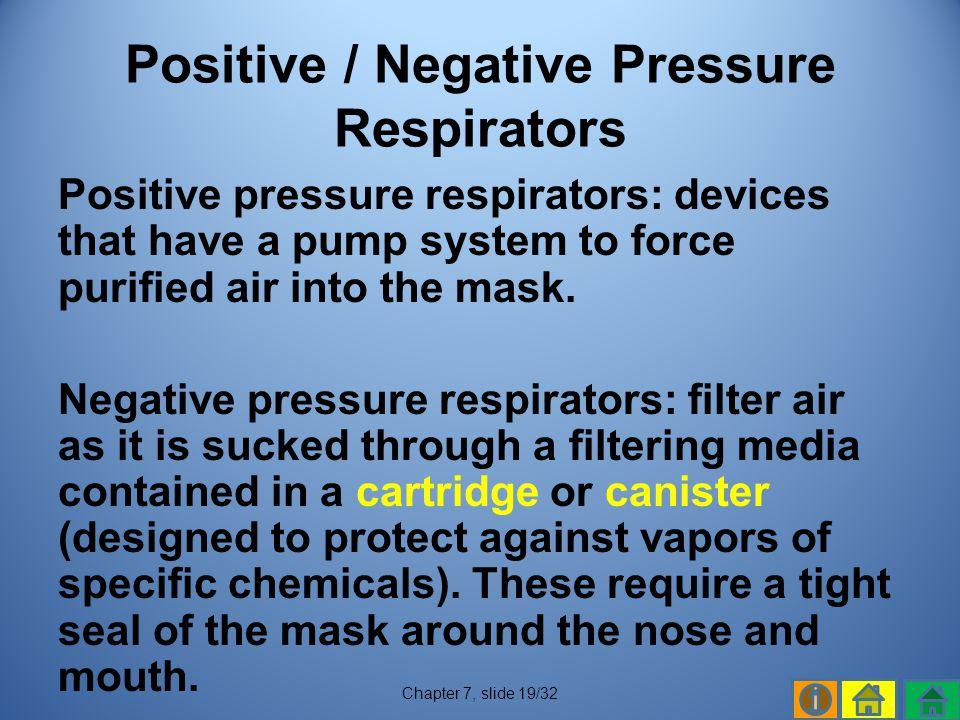 Positive / Negative Pressure Respirators