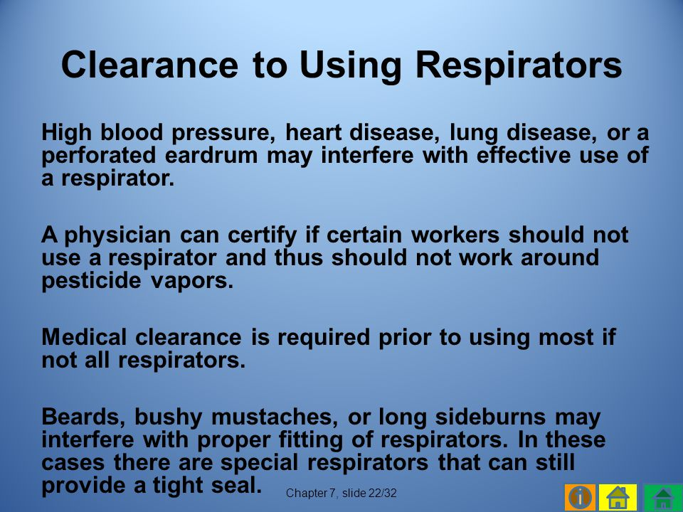 Clearance to Using Respirators