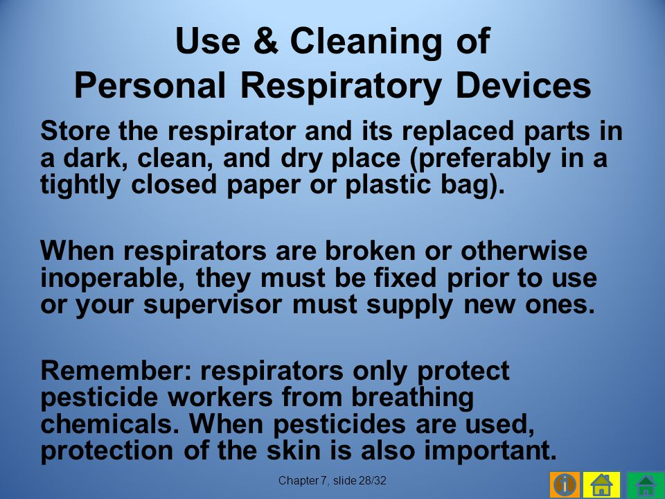 Use & Cleaning of Personal Respiratory Devices