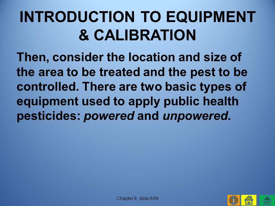 INTRODUCTION TO EQUIPMENT & CALIBRATION