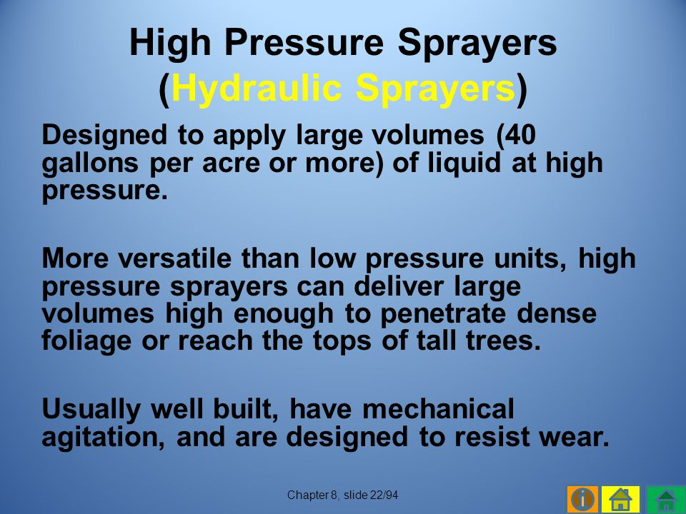 High Pressure Sprayers (Hydraulic Sprayers)