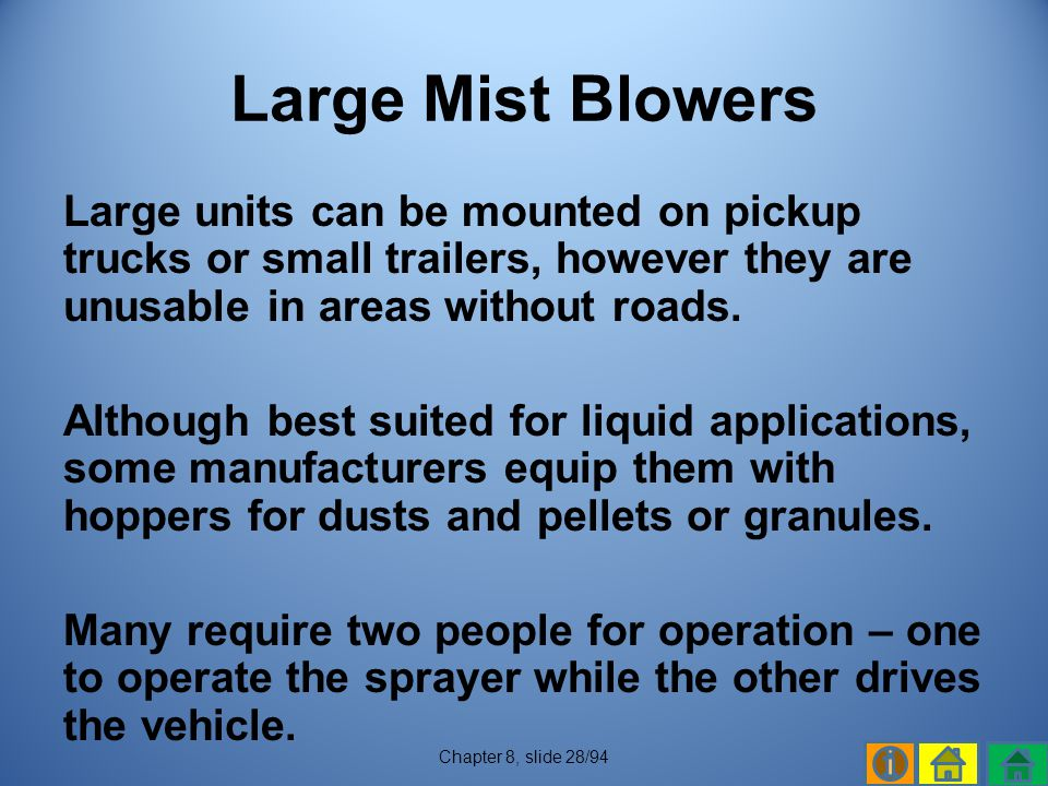 Large Mist Blowers