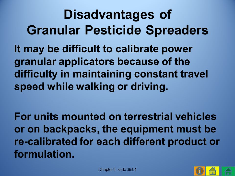 Disadvantages of Granular Pesticide Spreaders