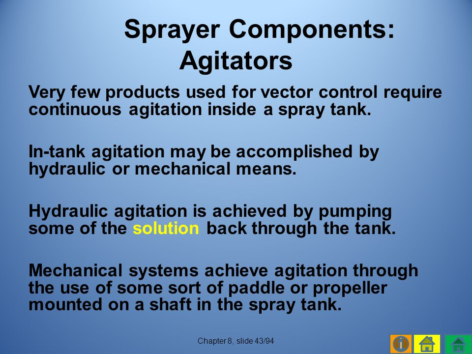 Sprayer Components: Agitators