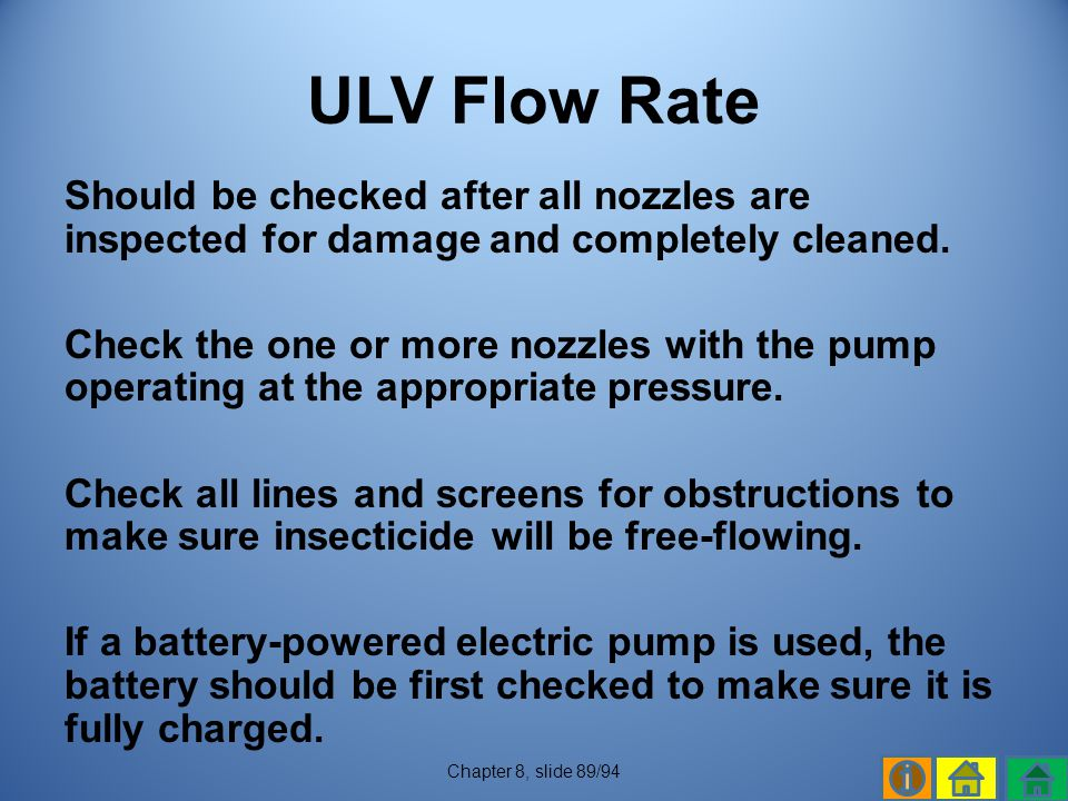 ULV Flow Rate