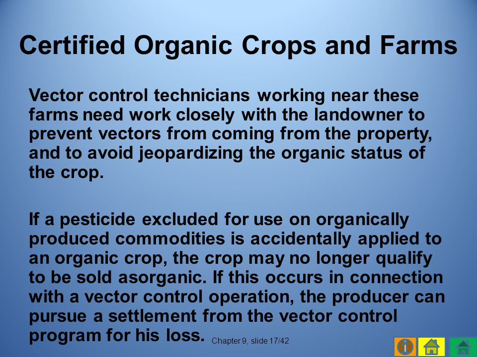 Certified Organic Crops and Farms