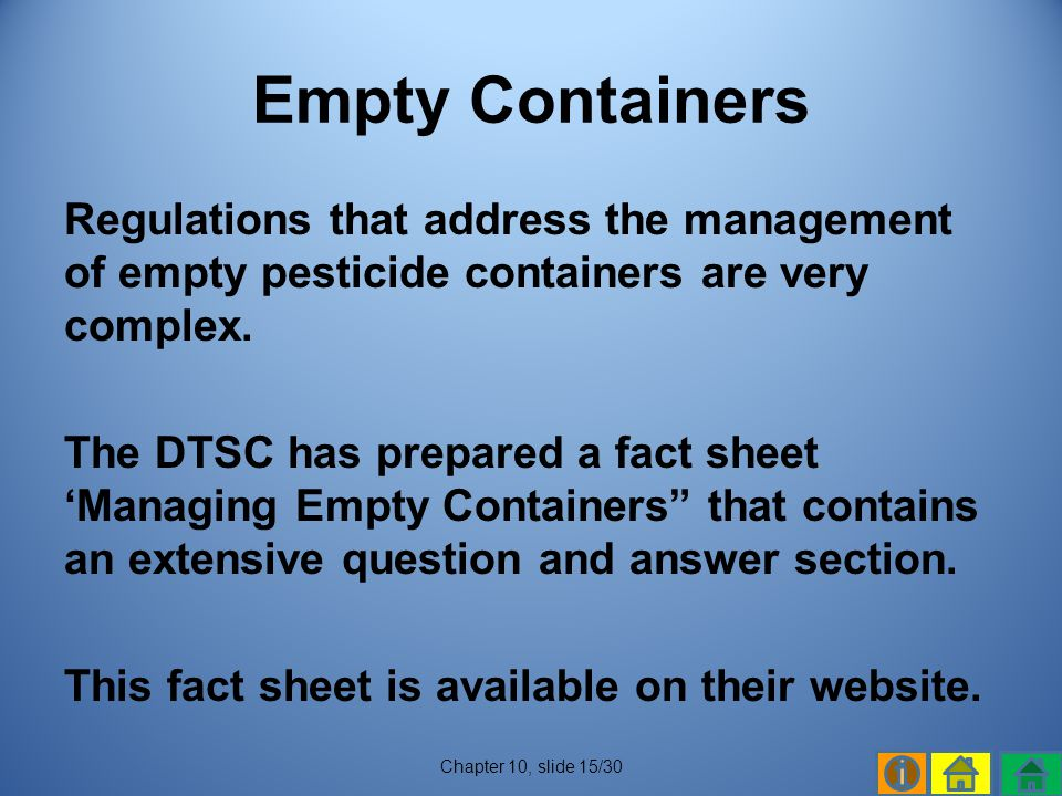 Empty Containers