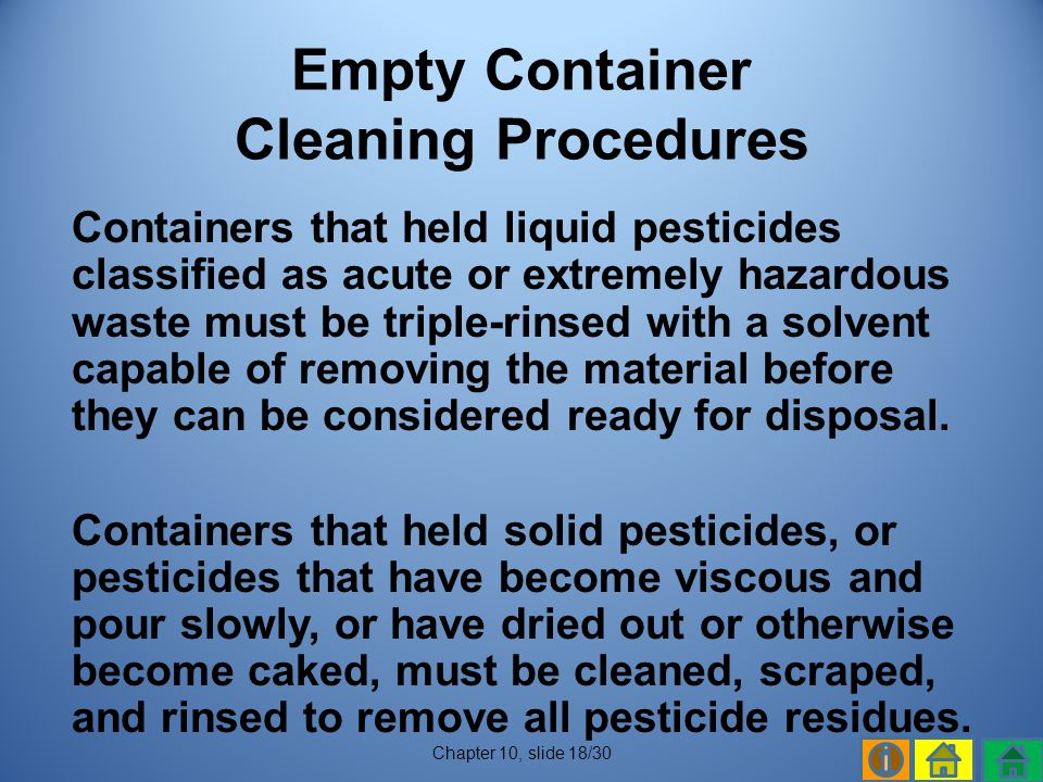Empty Container Cleaning Procedures