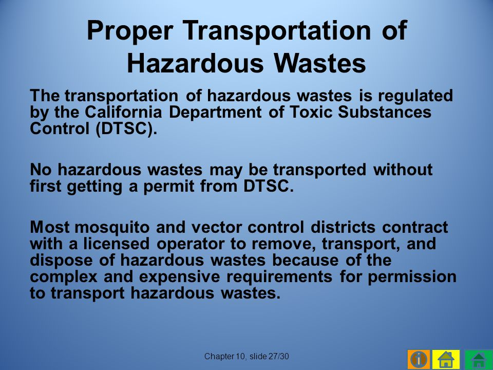 Proper Transportation of Hazardous Wastes