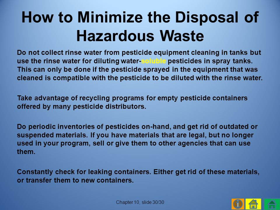 How to Minimize the Disposal of Hazardous Waste