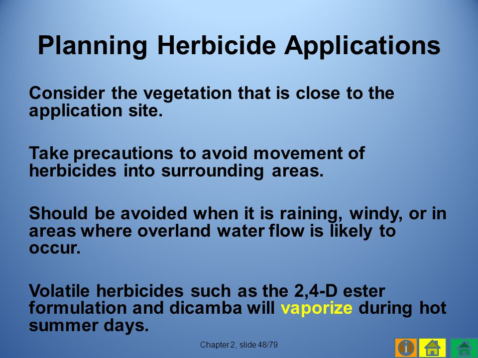 Planning Herbicide Applications