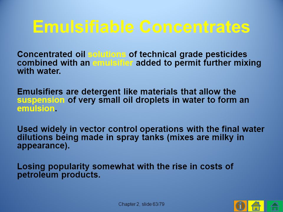 Emulsifiable Concentrates