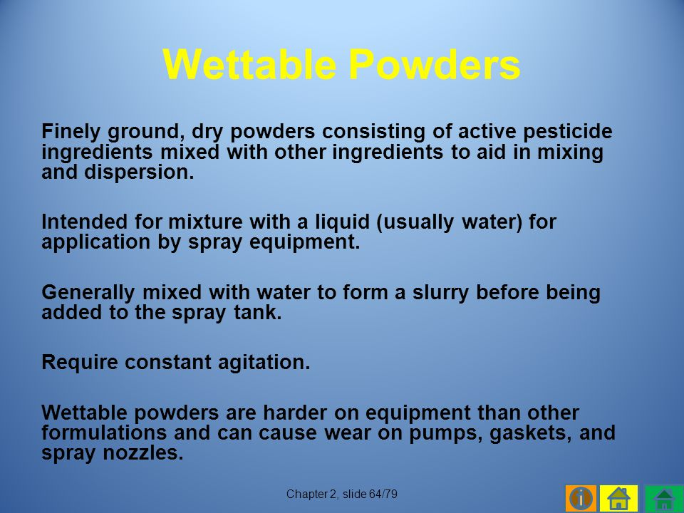 Wettable Powders