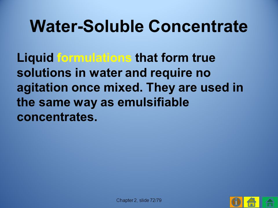 Water-Soluble Concentrate