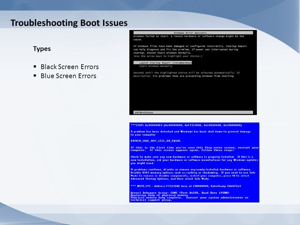 Troubleshooting Boot Issues