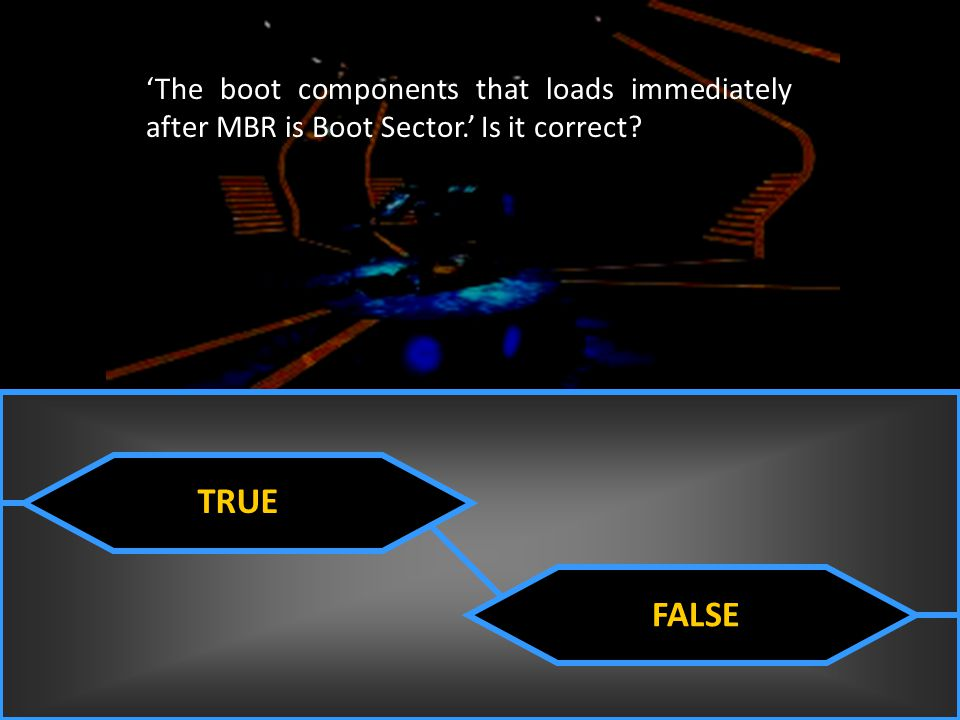 'The boot components that loads immediately after MBR is Boot Sector