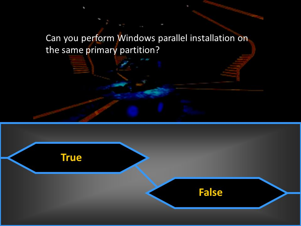 Can you perform Windows parallel installation on the same primary partition