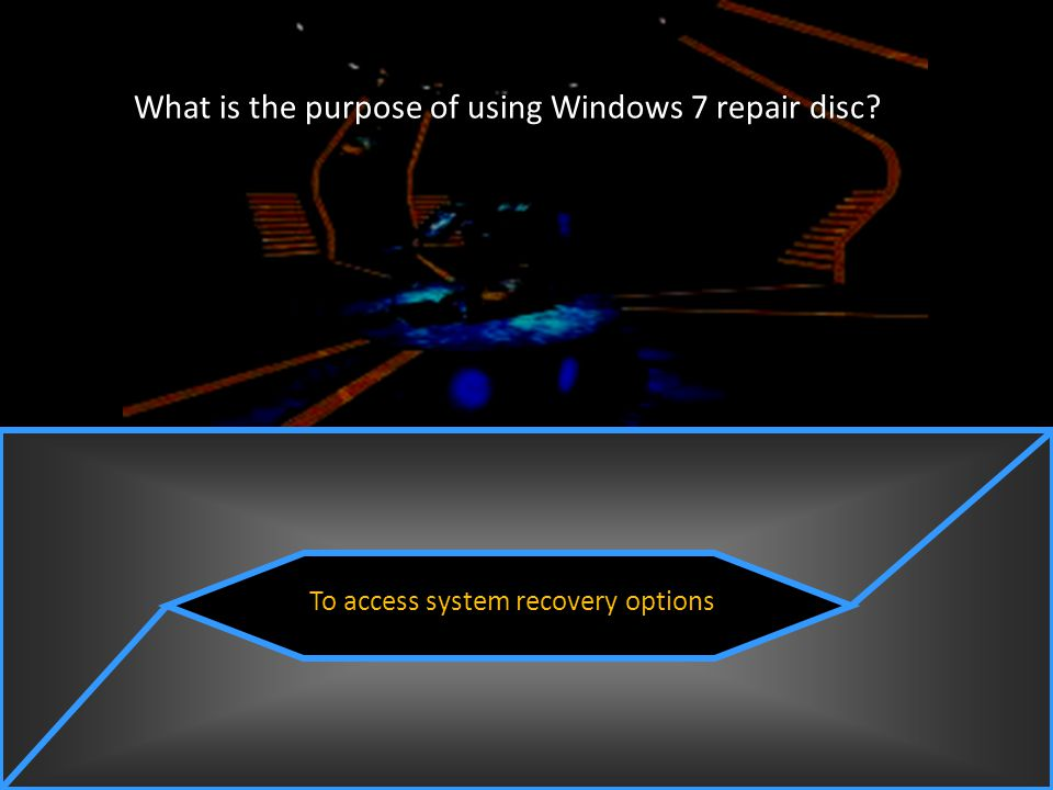 What is the purpose of using Windows 7 repair disc