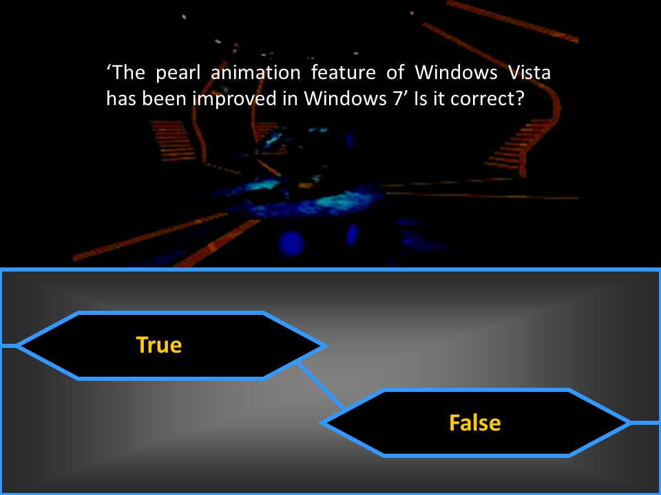 'The pearl animation feature of Windows Vista has been improved in Windows 7' Is it correct