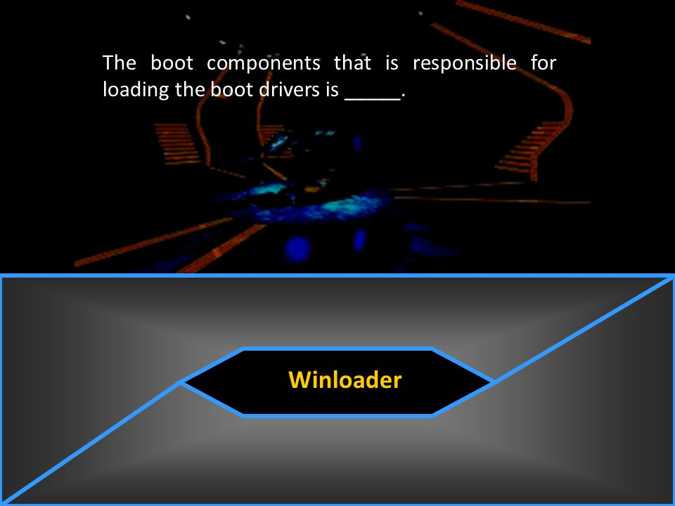 The boot components that is responsible for loading the boot drivers is _____.