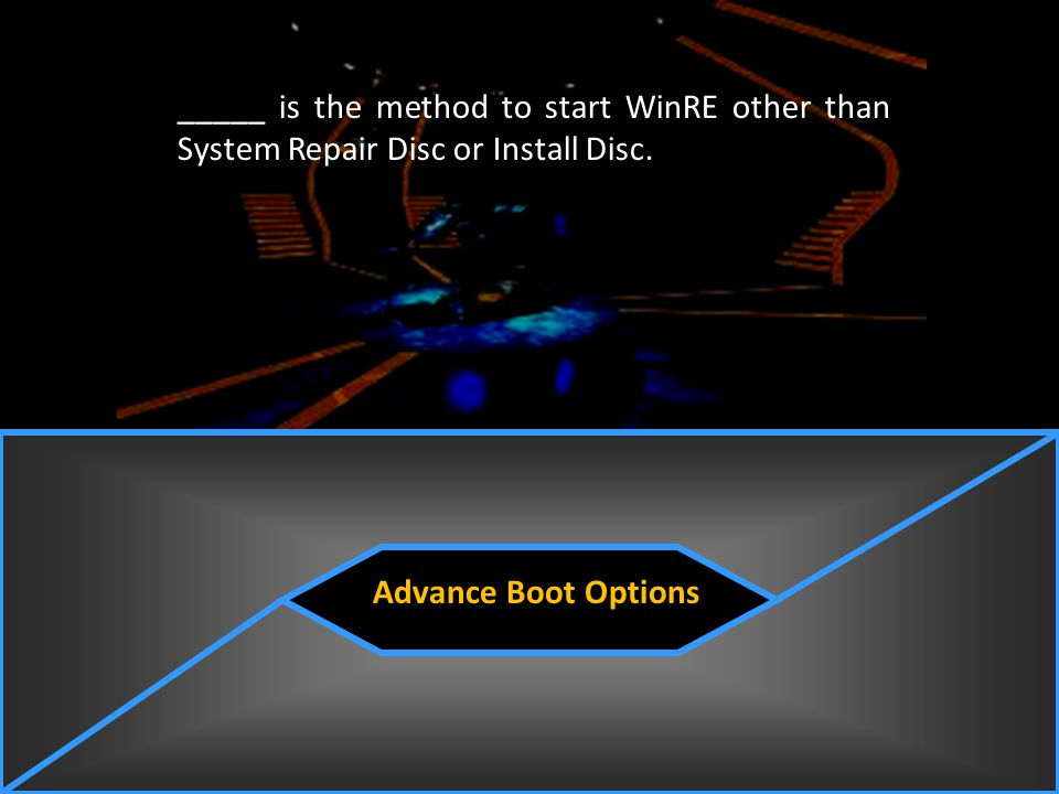 _____ is the method to start WinRE other than System Repair Disc or Install Disc.