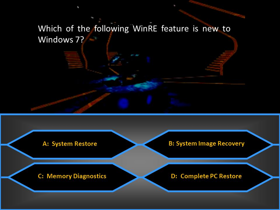 Which of the following WinRE feature is new to Windows 7