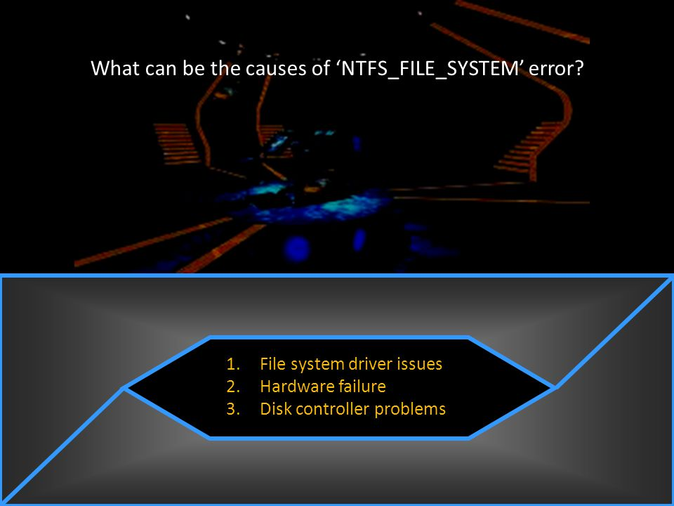 What can be the causes of 'NTFS_FILE_SYSTEM' error