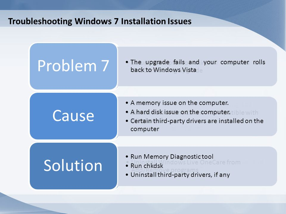 Troubleshooting Windows 7 Installation Issues