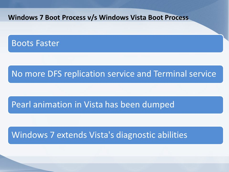 Windows 7 Boot Process v/s Windows Vista Boot Process