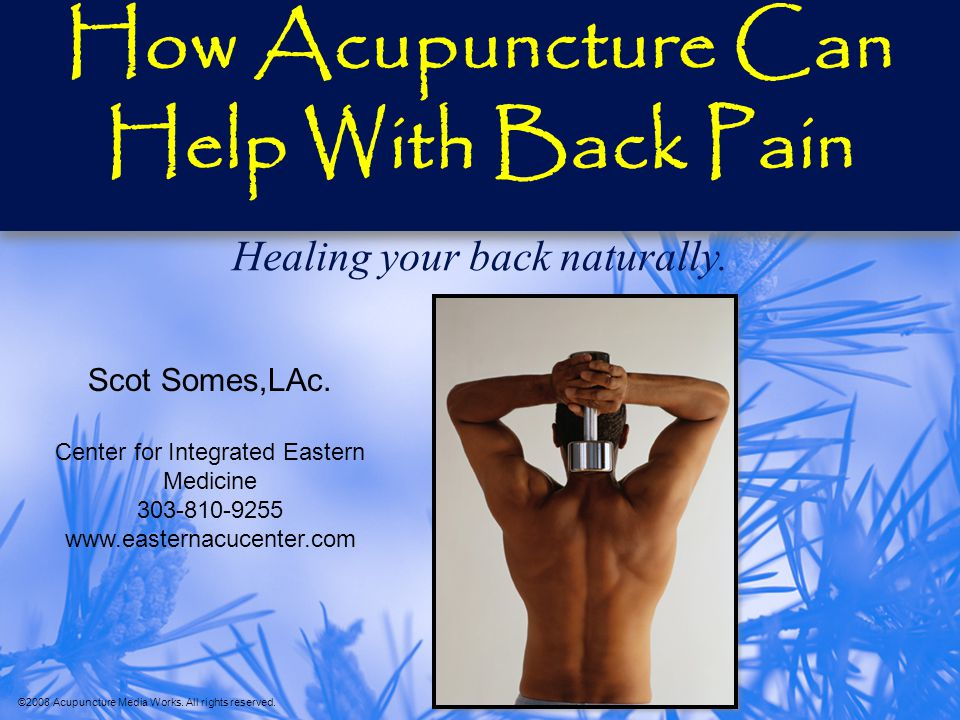 How Acupuncture Can Help With Back Pain