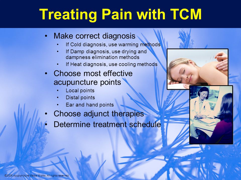 Treating Pain with TCM Make correct diagnosis