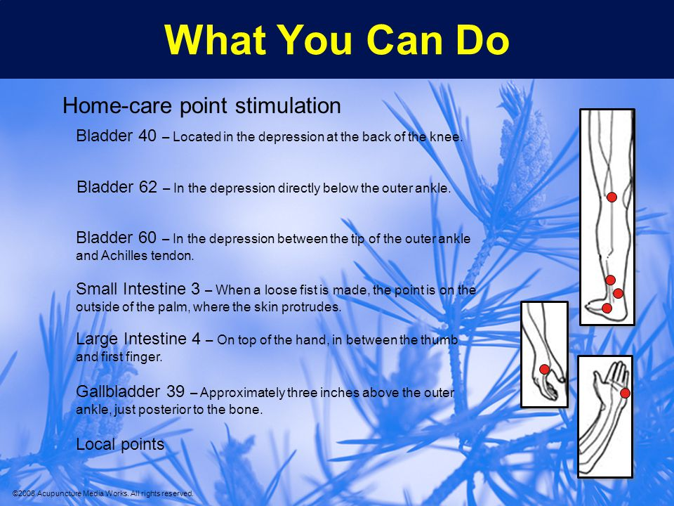 What You Can Do Home-care point stimulation