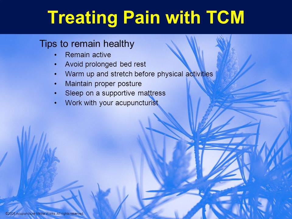 Treating Pain with TCM Tips to remain healthy Remain active