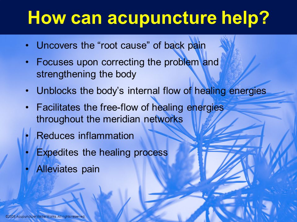 How can acupuncture help