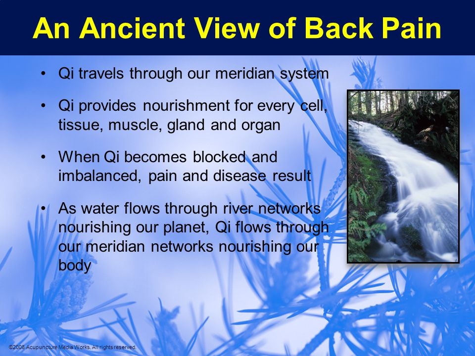 An Ancient View of Back Pain