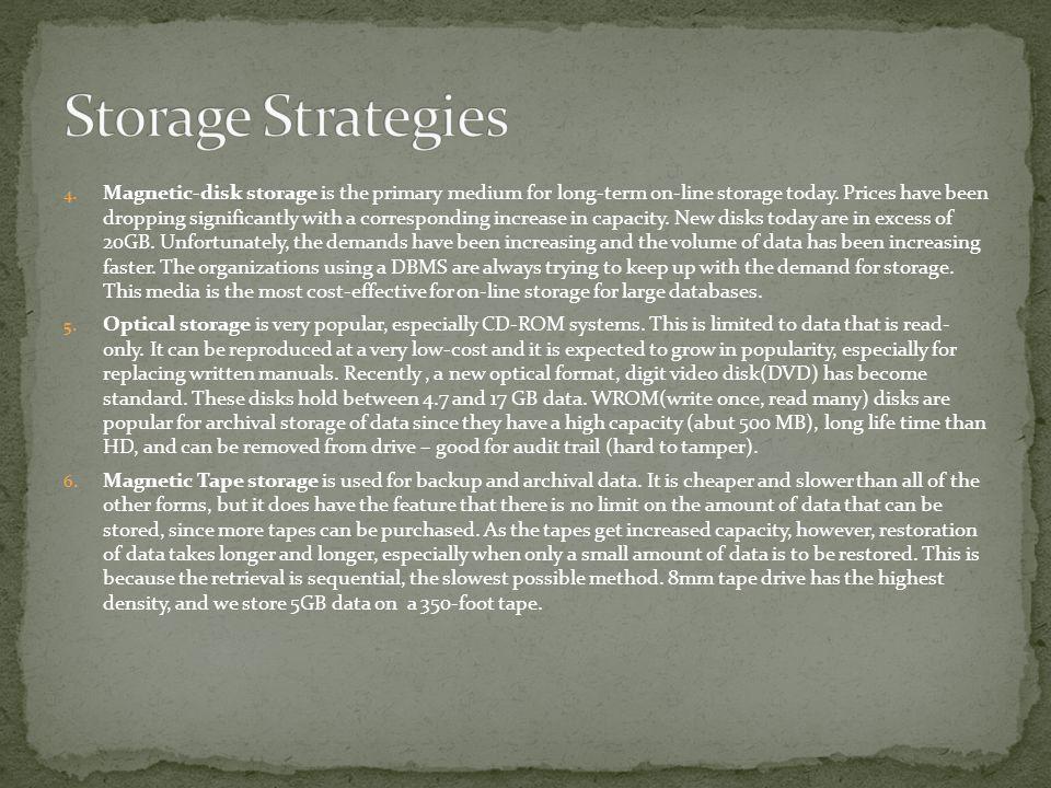 Storage Strategies