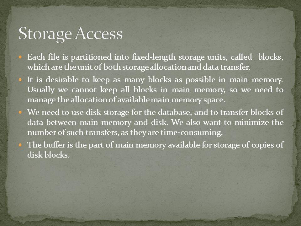 Storage Access