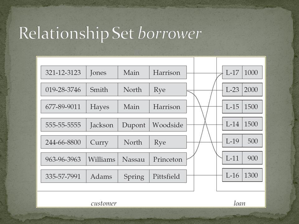 Relationship Set borrower