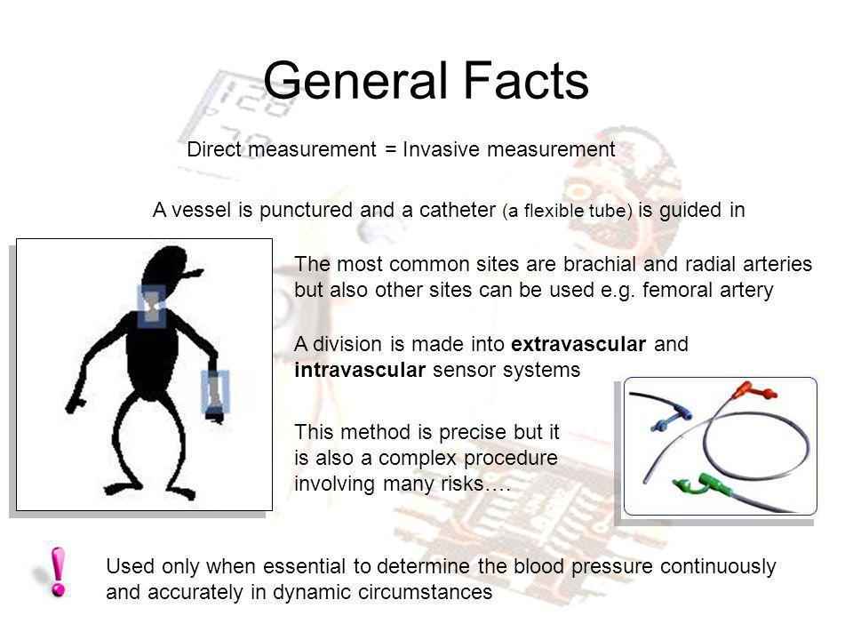 General Facts Direct measurement = Invasive measurement