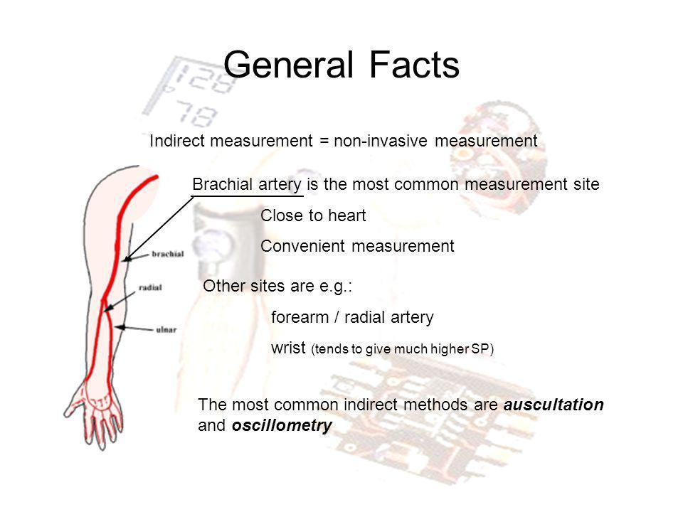 General Facts Indirect measurement = non-invasive measurement