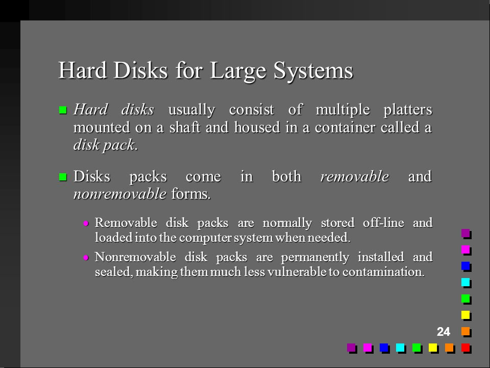 Hard Disks for Large Systems