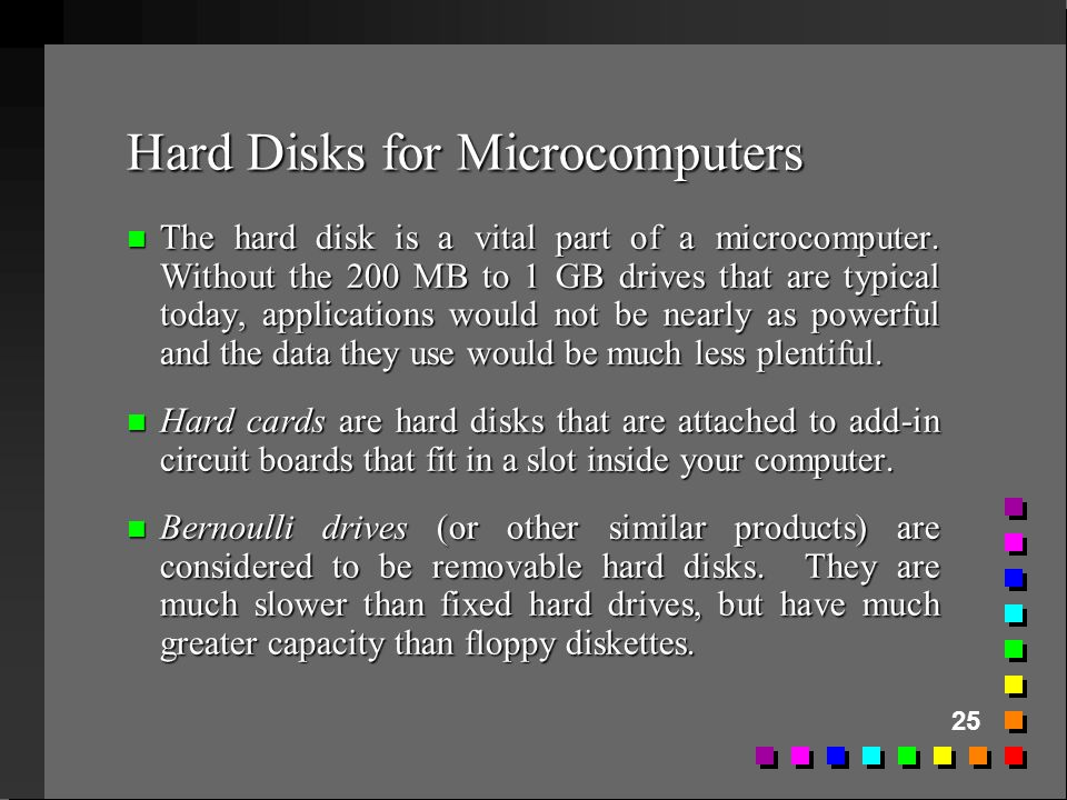 Hard Disks for Microcomputers