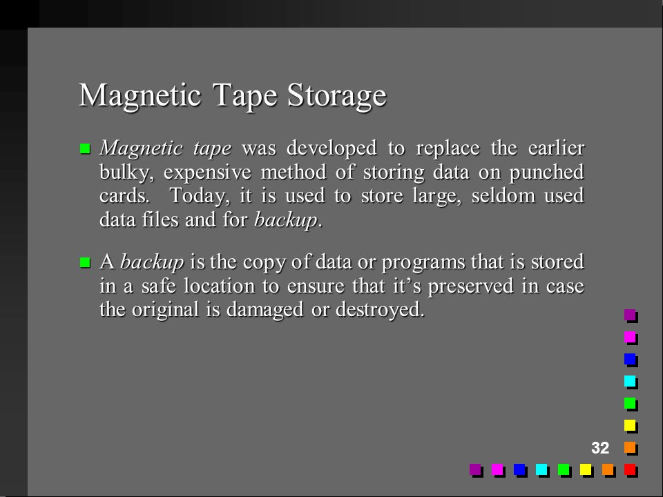 Magnetic Tape Storage