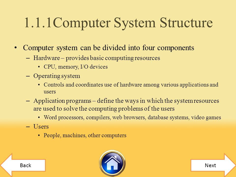 1.1.1Computer System Structure