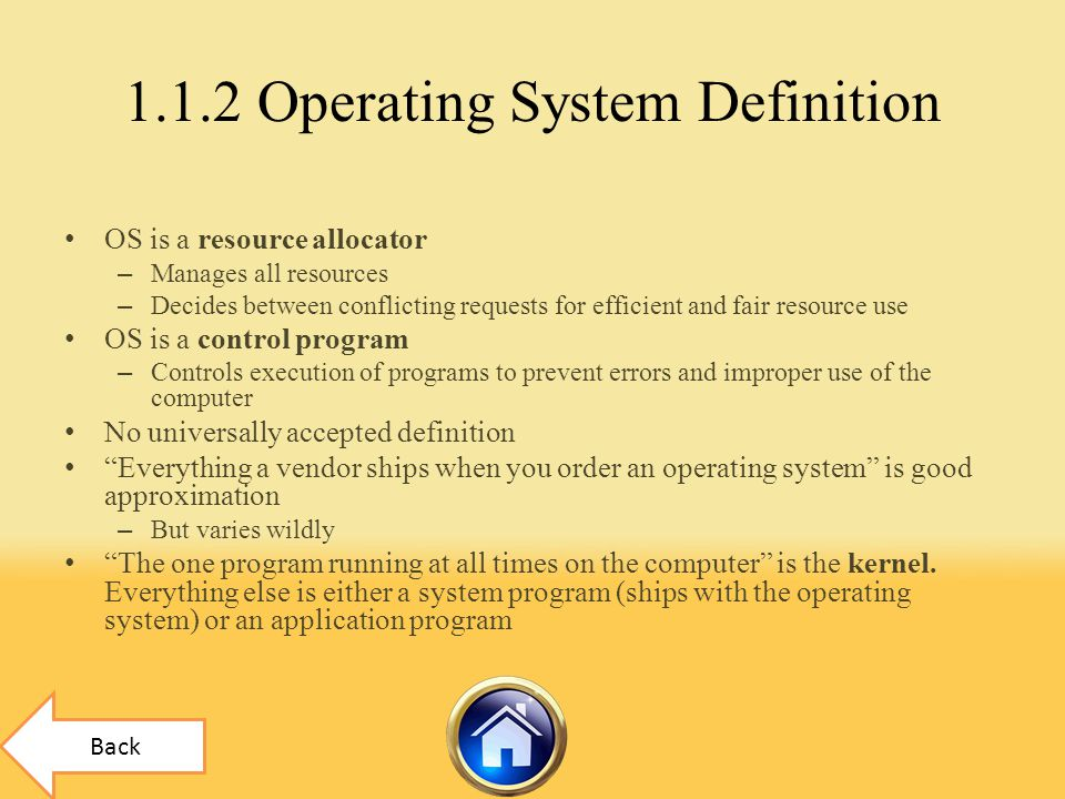 1.1.2 Operating System Definition