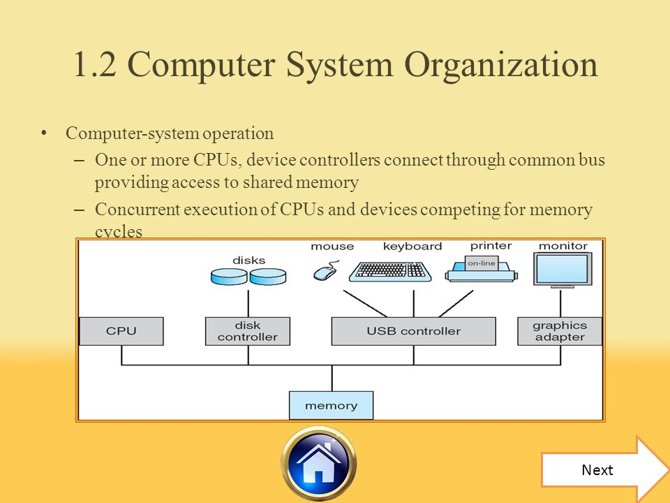 1.2 Computer System Organization
